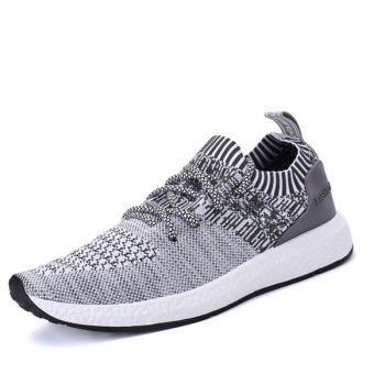 Breathable Stripes Athletic Shoes