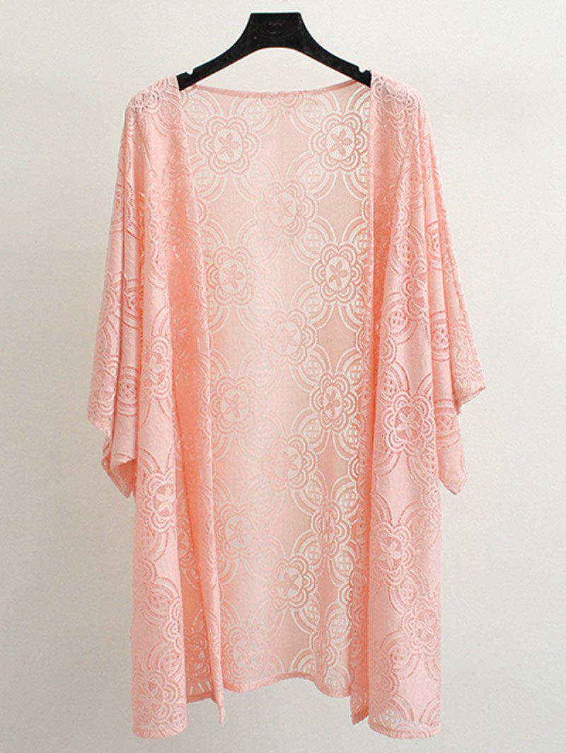 Ouvrir Coat Lace Front - Orange Rose 3XL