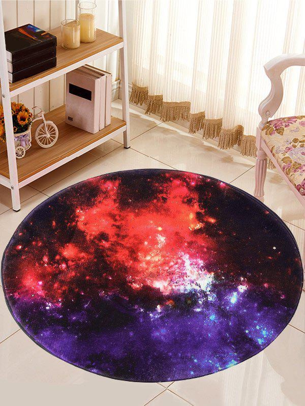 Round Star Sky Skidproof Caroset Rug - multicolorcolore