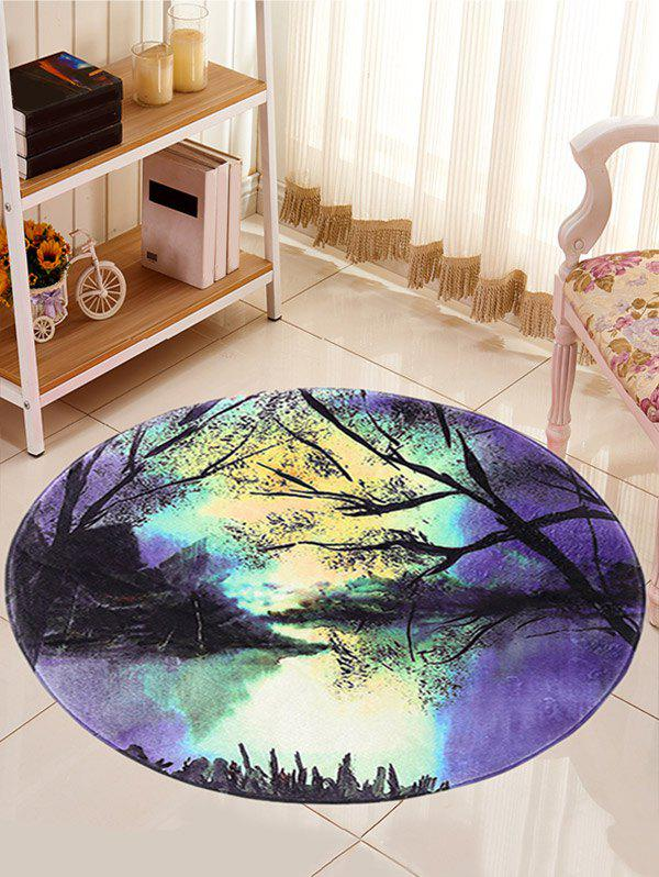 Paysage Imprimer Caroset Round Skidproof Tapis - multicolorcolore