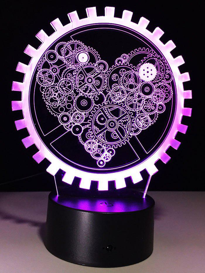 3D LED Color Changing Night Light Holiday Gift - TRANSPARENT