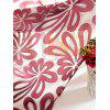 Flower Embroidered Grommet Roller Tulle Curtain - PURPLISH RED 100*250CM