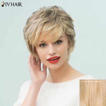 Siv Hair Short Sided Bang Layered Human Hair Wig