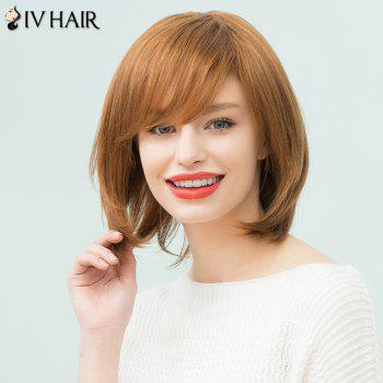 Siv Hair Short Straight Oblique Bang Human Hair Bob Wig