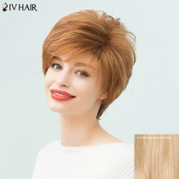 Siv Hair Short Layered Fluffy Capless Human Hair Wig