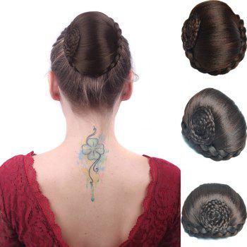 Boutique High Temperature Fiber Braids Hair Bun