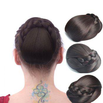 Vintage Braid Bun High Temperature Fiber Capless Chignons
