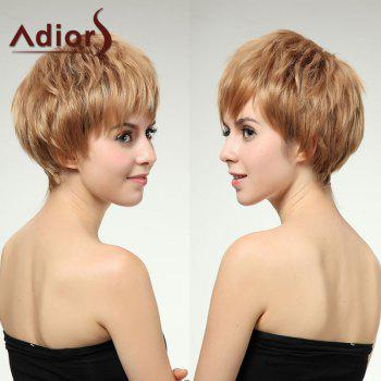 Adiors Short Layered Spiffy Straight Neat Bang Synthetic Wig