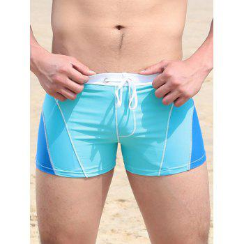 Stretch Color Block Swimming Trunks