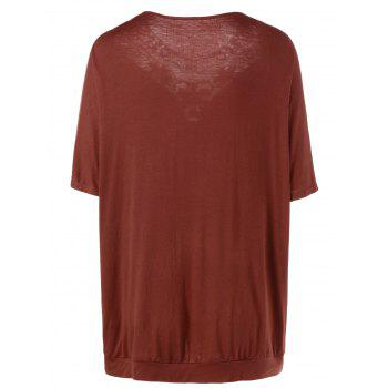 Plus Size Lace Panel Long T-Shirt - SPICE SPICE