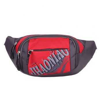 Sports Waterproof Waist Bag - RED RED