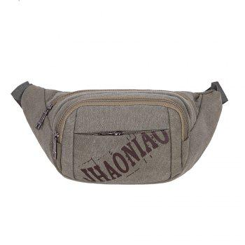 Graphic Canvas Waist Bag