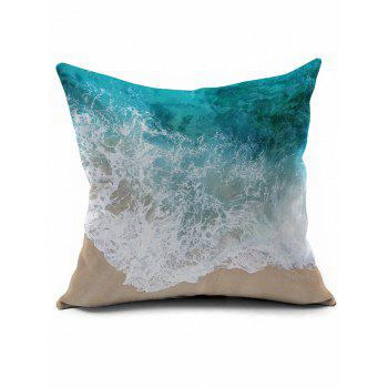 Seawater Printing Short Plush Square Pillow Case