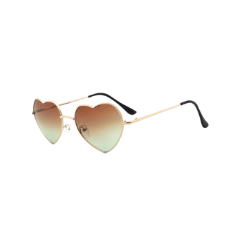 Heart Shape Sunglasses with See Through Lens
