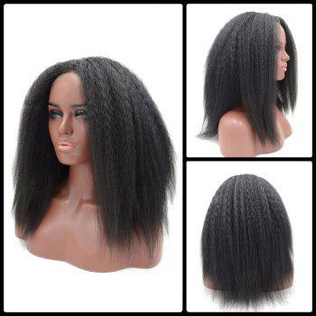 Long Yaki Straight Middle Part Lace Frontal Synthetic Wig