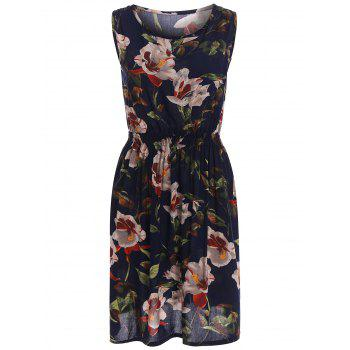 Stretch Waist Sundress with Floral Print