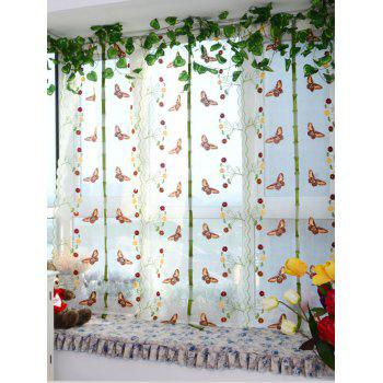 Window Decor Roman Pastoral Style Sheer Tulle Curtain