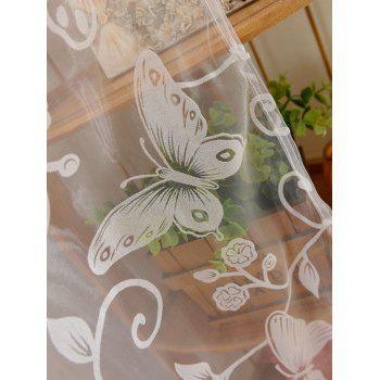 2Pcs/Set Butterflies Embroidery Window Sheer Tulle Curtain - 100*200CM (2PCS/SET) 100*200CM (2PCS/SET)