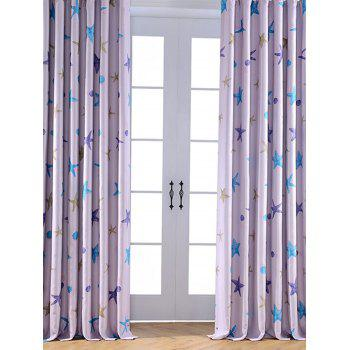 Window Shading Star Printed Blackout Curtain