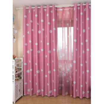 Cloud Printed Window Screen Blackout Curtain For Kids Room - 100*200CM 100*200CM