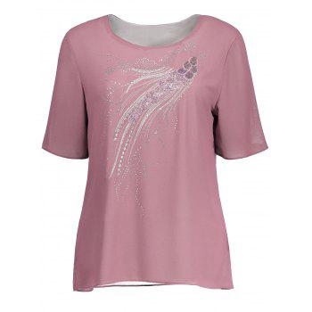 Sequin Embroidered Plus Size Top