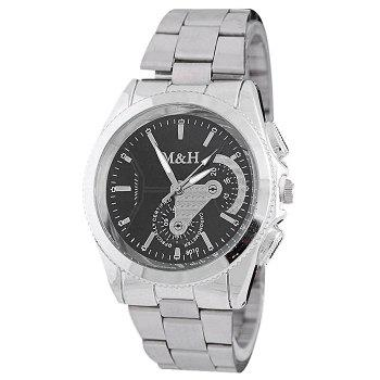 Metallic Strap Analog Wrist Watch