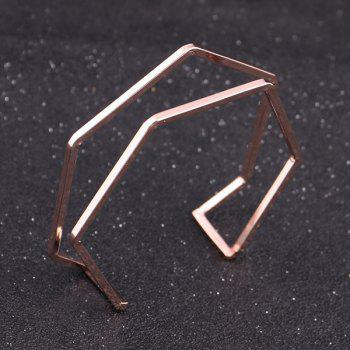 Geometric Cuff Hexagon Bracelet