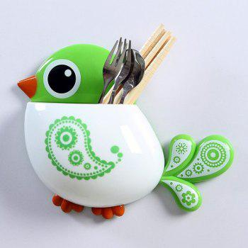 Cartoon Bird Suction Toothbrush Holder - GREEN GREEN