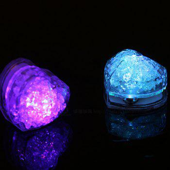 Coeur clignotant LED Ice Cube - multicolore