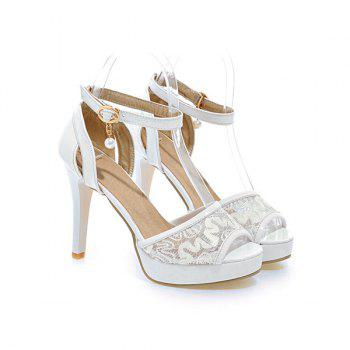 Faux Pearl Mesh Sandals