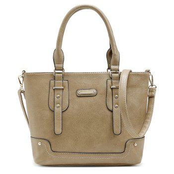 Faux Leather Straps Handbag