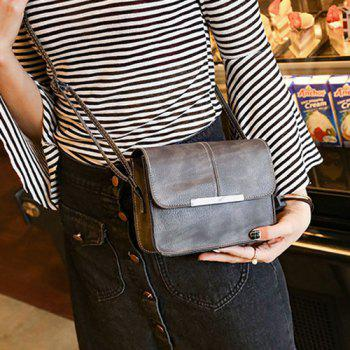 Flap Metal Trimmed Cross Body Bag