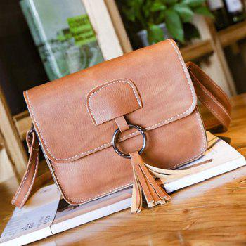 Tassel Metal Ring Cross Body Bag