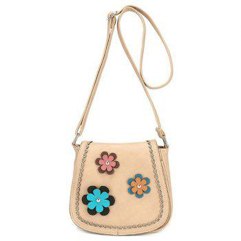 Scalloped Flowers Crossbody Bag