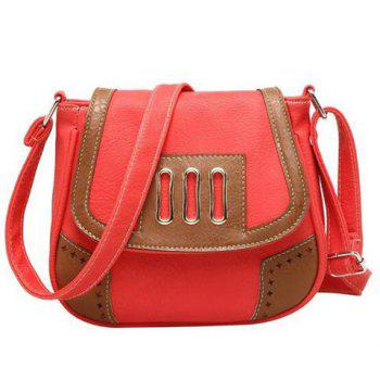 Color Block Metal Detail Crossbody Bag