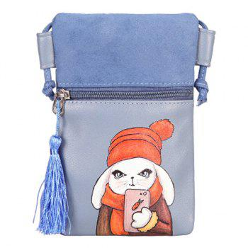 Cartoon Rabbit Printed Mini Crossbody Bag