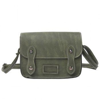 Stitching Metal Detail Cross Body Bag