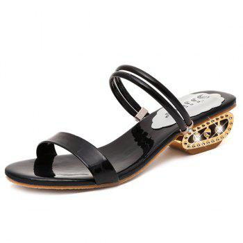 Patent Leather Strange Style Slippers