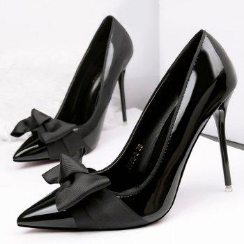 Bow Mini Heel Pumps
