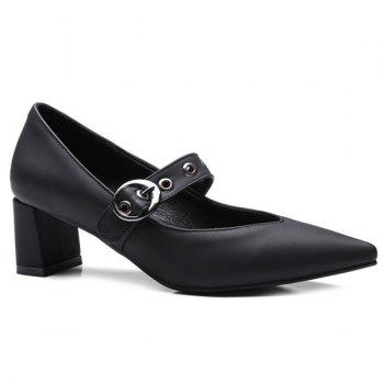 Eyelets Buckle Strap Pumps