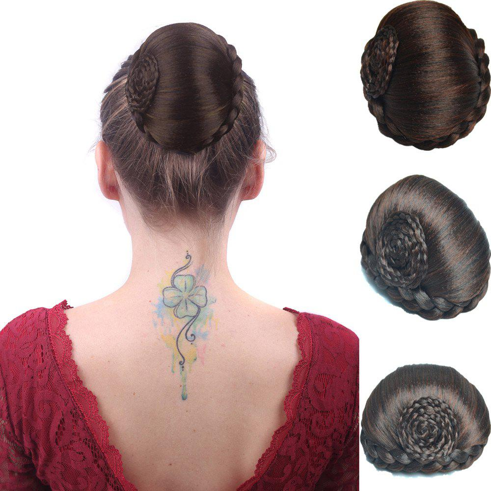 Boutique High Temperature Fiber Braids Hair Bun - BROWN