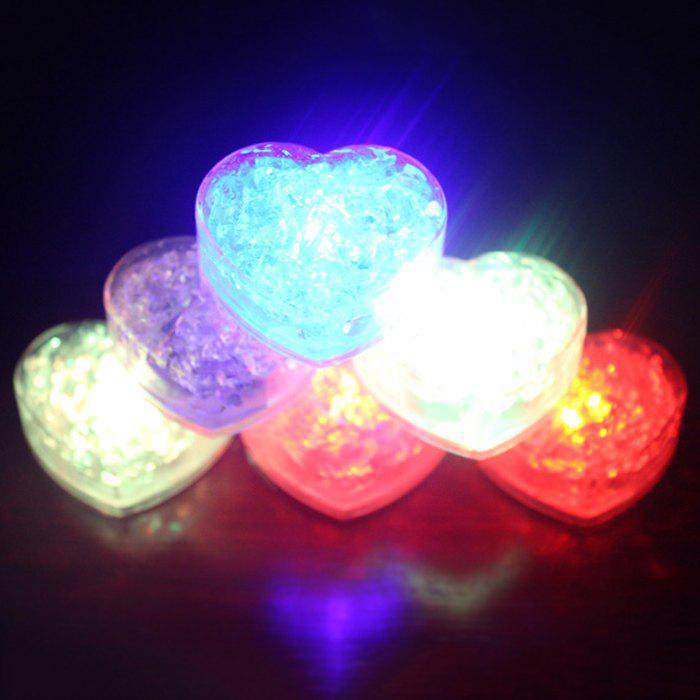 Heart Shape Flashing LED Ice Cube heart shape led light up flashing ice cube