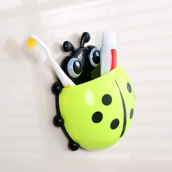 Cartoon Ladybird Suction Toothbrush Holder - GREEN