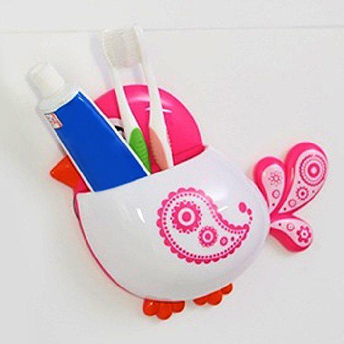 Cartoon Bird Suction Toothbrush Holder - PINK