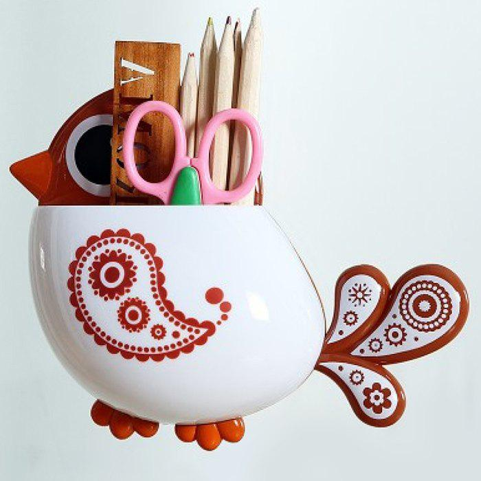 Cartoon Bird Suction Toothbrush Holder - COFFEE