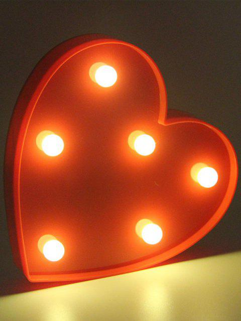 Confession Gift Love Heart Shaped LED Night Light - RED