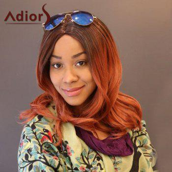 Adiors Long Slightly Curly Middle Part Ombre Synthetic Wig