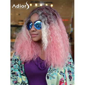 Adiors Long Curly Gradient Middle Parting Synthetic Wigs