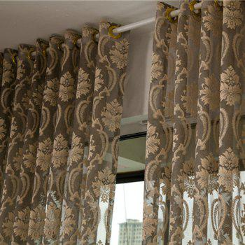 Europe Floral Sheer Voile Fabric Curtain For Living Room - W39 INCH *L98 INCH W39 INCH *L98 INCH