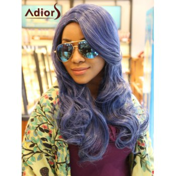 Adiors Long Wavy Side Paring Synthetic Wig